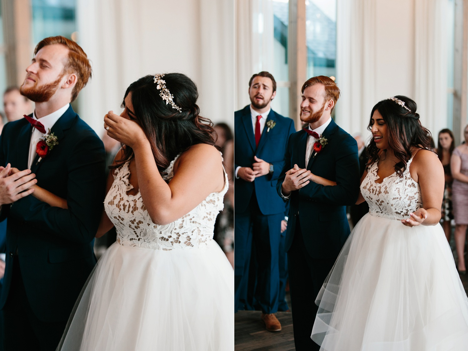 Grant + Lysette | a vibrant, deep burgundy and navy, and mixed metals wedding at Hidden Pines Chapel by North Texas Wedding Photographer Rachel Meagan Photography 069