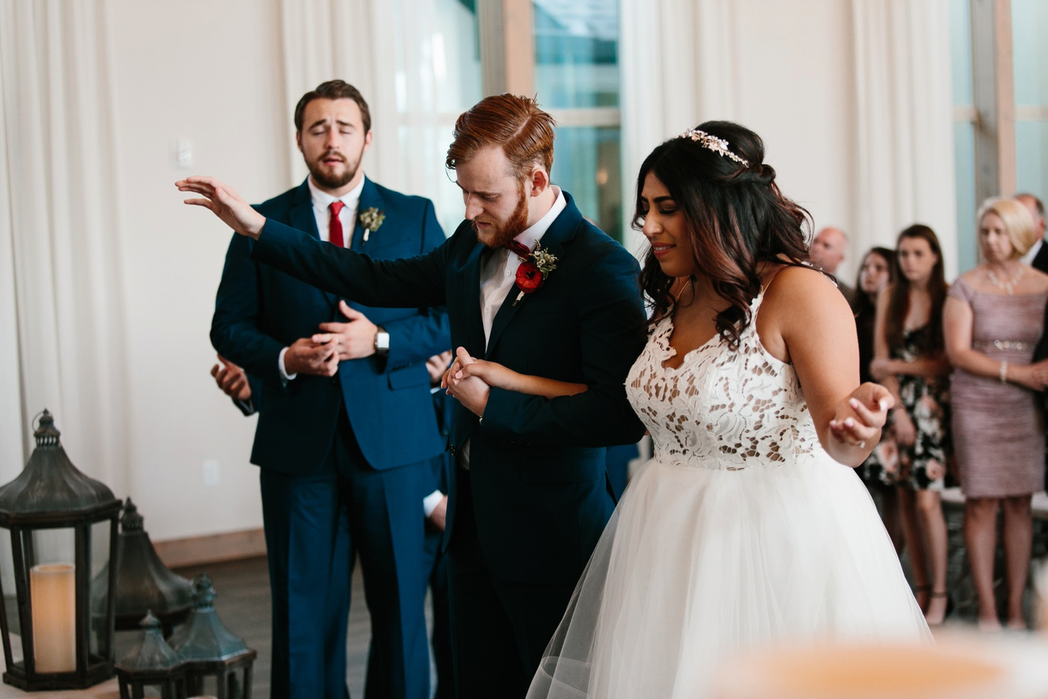 Grant + Lysette | a vibrant, deep burgundy and navy, and mixed metals wedding at Hidden Pines Chapel by North Texas Wedding Photographer Rachel Meagan Photography 070