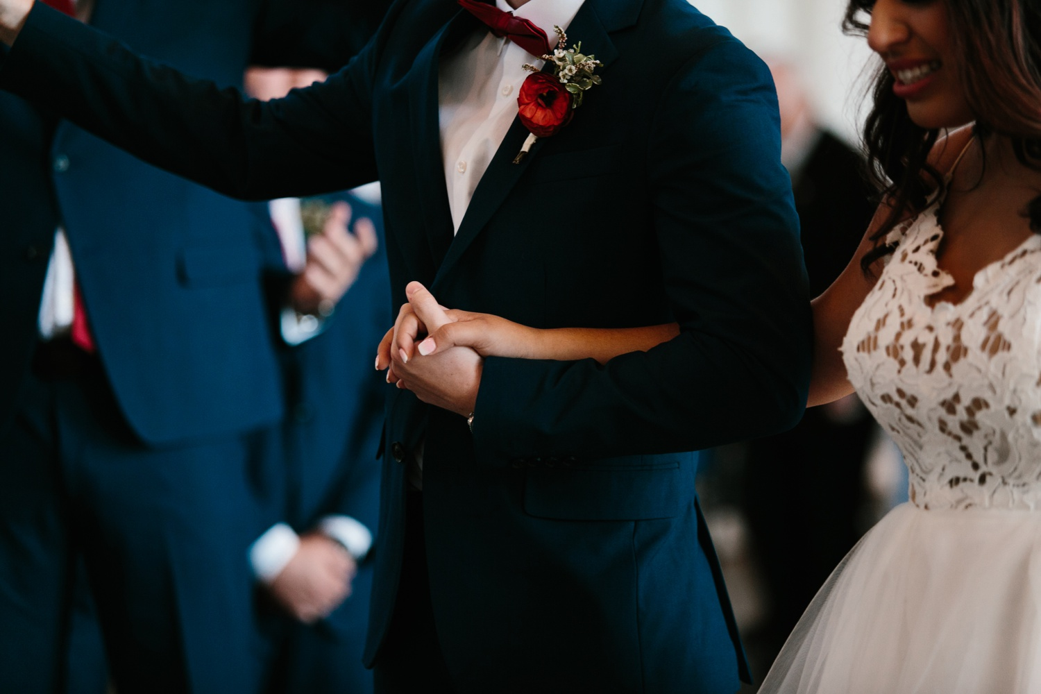 Grant + Lysette | a vibrant, deep burgundy and navy, and mixed metals wedding at Hidden Pines Chapel by North Texas Wedding Photographer Rachel Meagan Photography 072