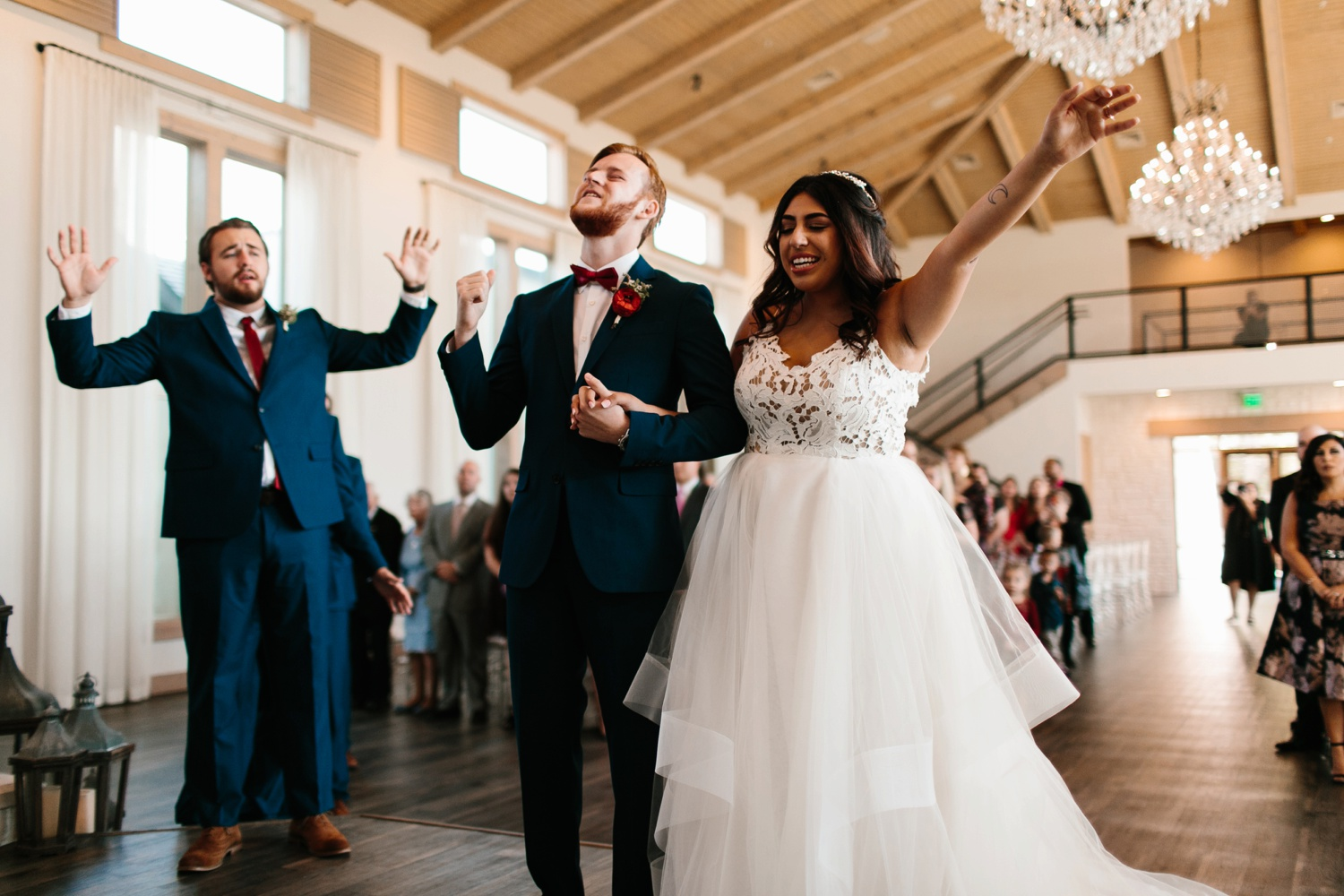 Grant + Lysette | a vibrant, deep burgundy and navy, and mixed metals wedding at Hidden Pines Chapel by North Texas Wedding Photographer Rachel Meagan Photography 073