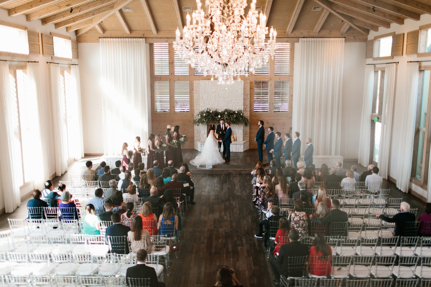 Grant + Lysette | a vibrant, deep burgundy and navy, and mixed metals wedding at Hidden Pines Chapel by North Texas Wedding Photographer Rachel Meagan Photography 080
