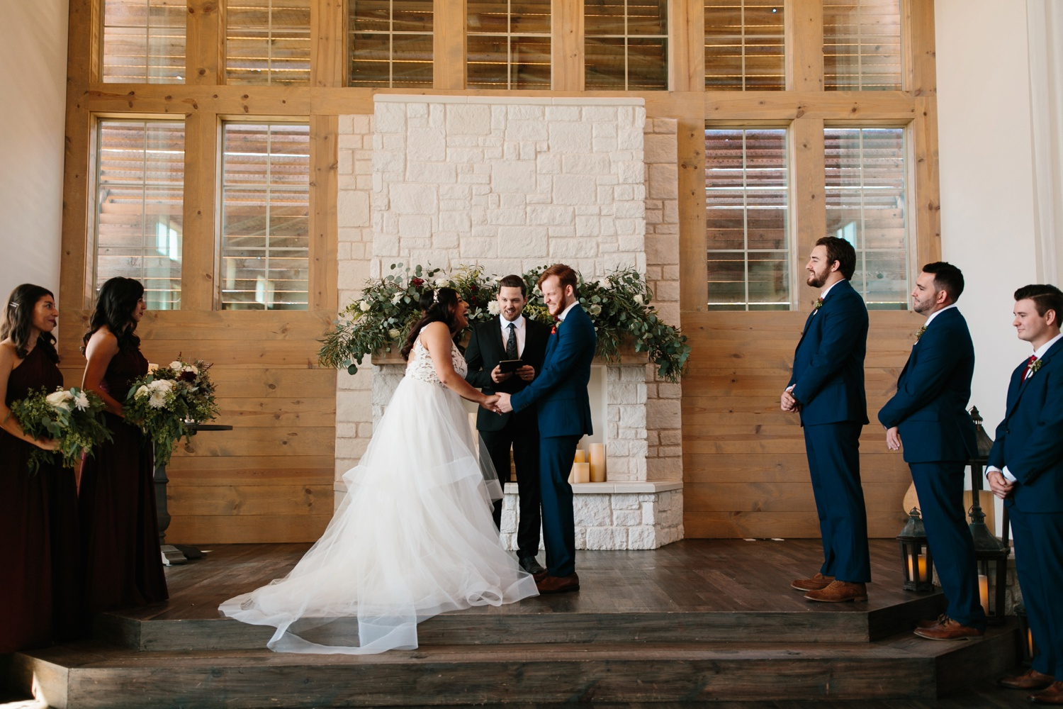 Grant + Lysette | a vibrant, deep burgundy and navy, and mixed metals wedding at Hidden Pines Chapel by North Texas Wedding Photographer Rachel Meagan Photography 081