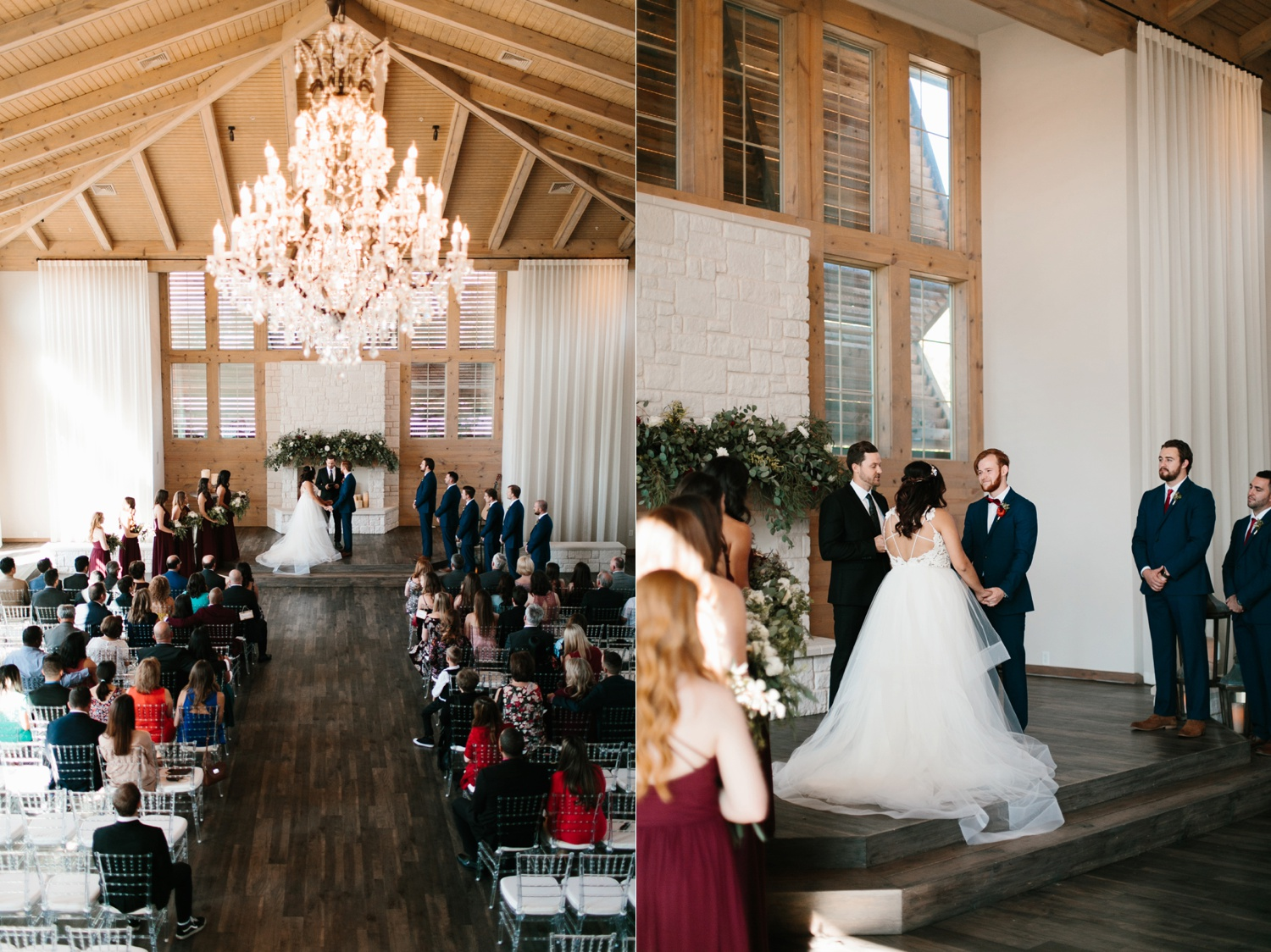 Grant + Lysette | a vibrant, deep burgundy and navy, and mixed metals wedding at Hidden Pines Chapel by North Texas Wedding Photographer Rachel Meagan Photography 084