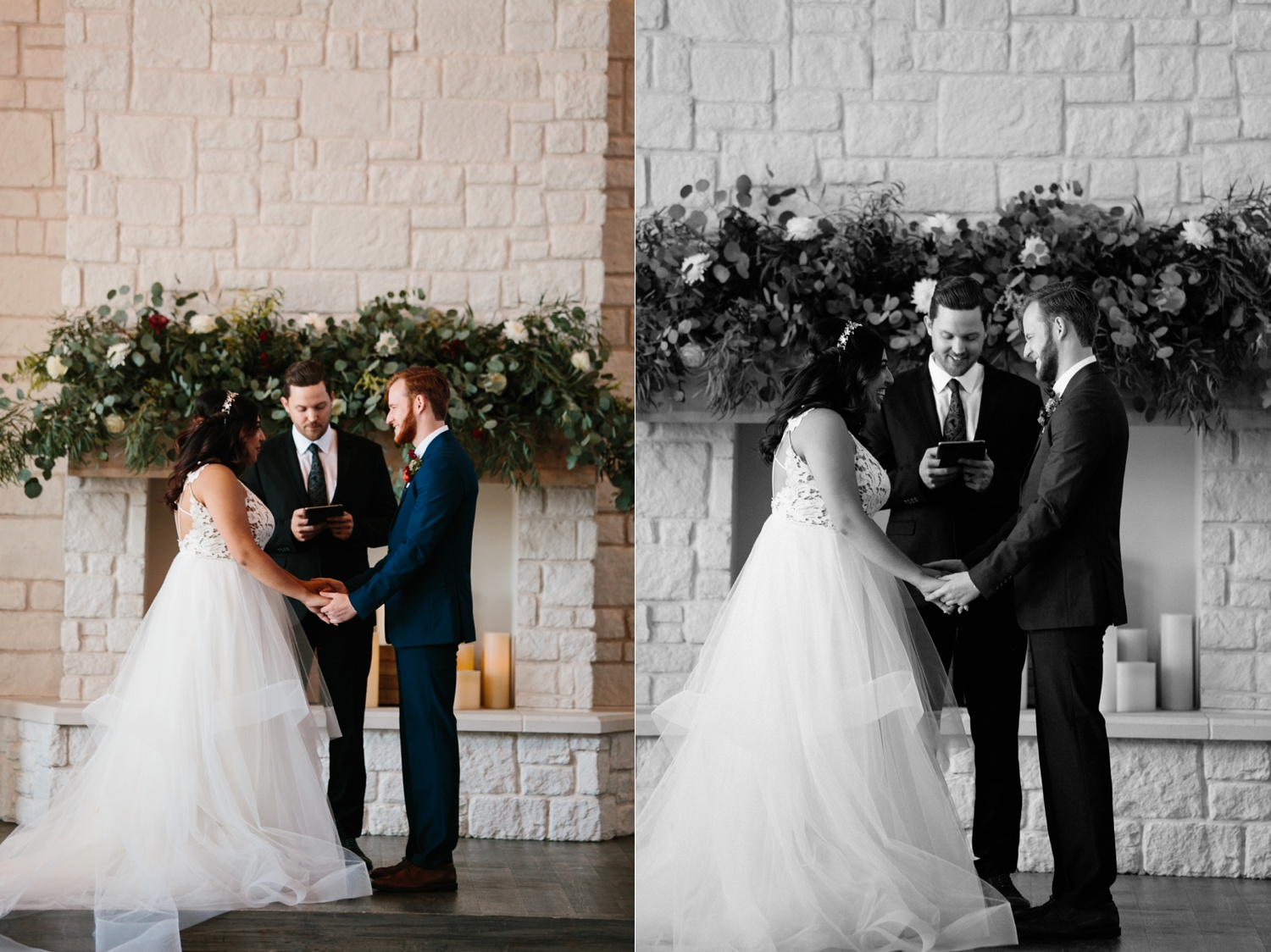 Grant + Lysette | a vibrant, deep burgundy and navy, and mixed metals wedding at Hidden Pines Chapel by North Texas Wedding Photographer Rachel Meagan Photography 089