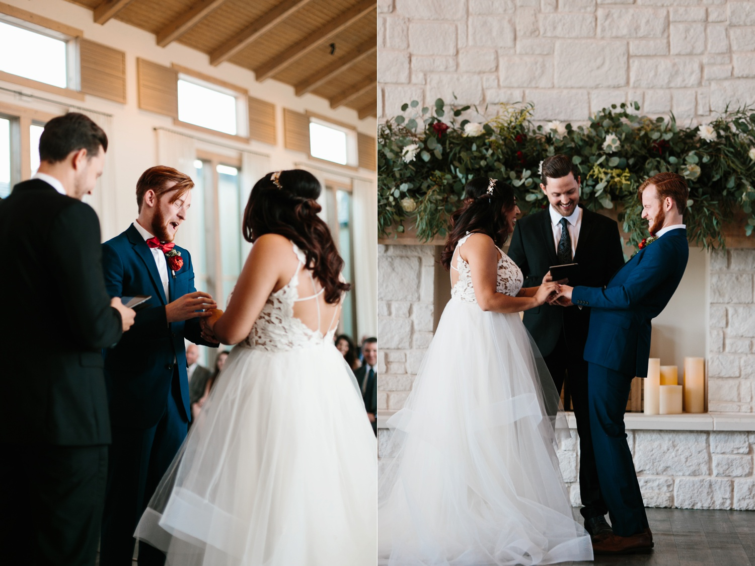 Grant + Lysette | a vibrant, deep burgundy and navy, and mixed metals wedding at Hidden Pines Chapel by North Texas Wedding Photographer Rachel Meagan Photography 092