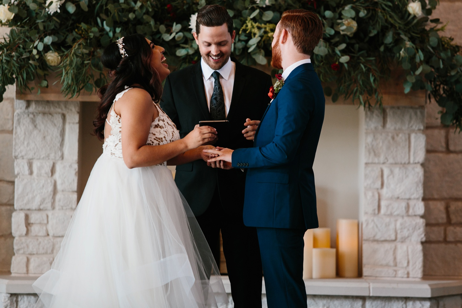 Grant + Lysette | a vibrant, deep burgundy and navy, and mixed metals wedding at Hidden Pines Chapel by North Texas Wedding Photographer Rachel Meagan Photography 093