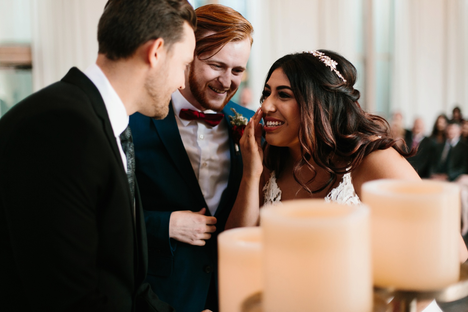 Grant + Lysette | a vibrant, deep burgundy and navy, and mixed metals wedding at Hidden Pines Chapel by North Texas Wedding Photographer Rachel Meagan Photography 095