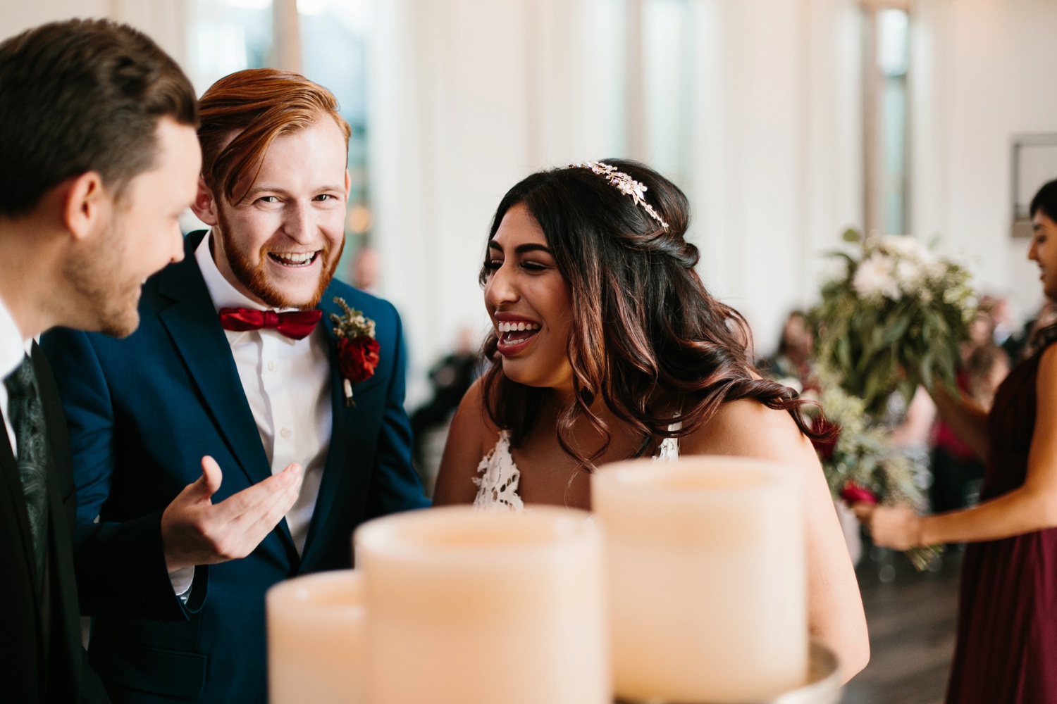 Grant + Lysette | a vibrant, deep burgundy and navy, and mixed metals wedding at Hidden Pines Chapel by North Texas Wedding Photographer Rachel Meagan Photography 096