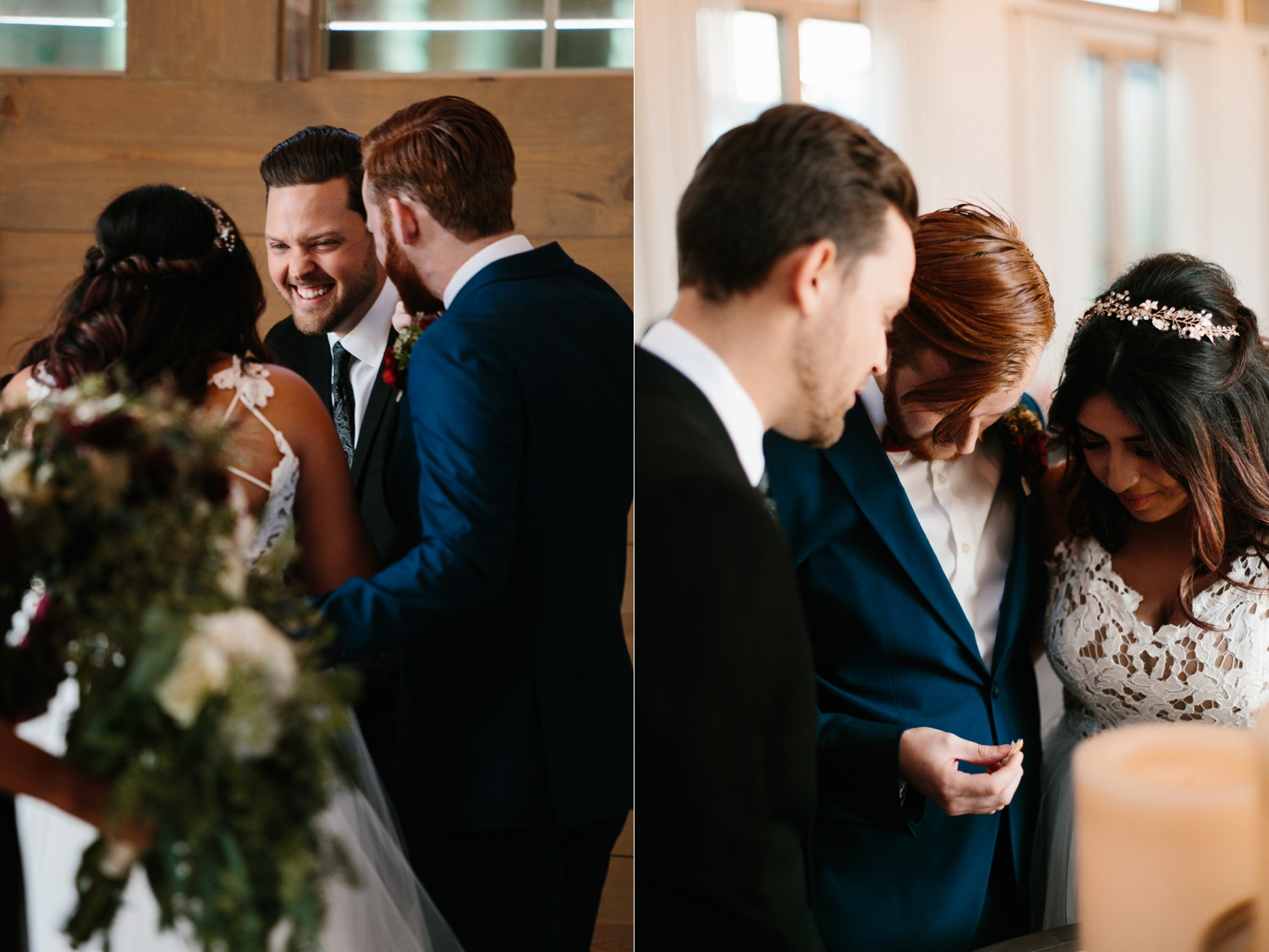 Grant + Lysette | a vibrant, deep burgundy and navy, and mixed metals wedding at Hidden Pines Chapel by North Texas Wedding Photographer Rachel Meagan Photography 097