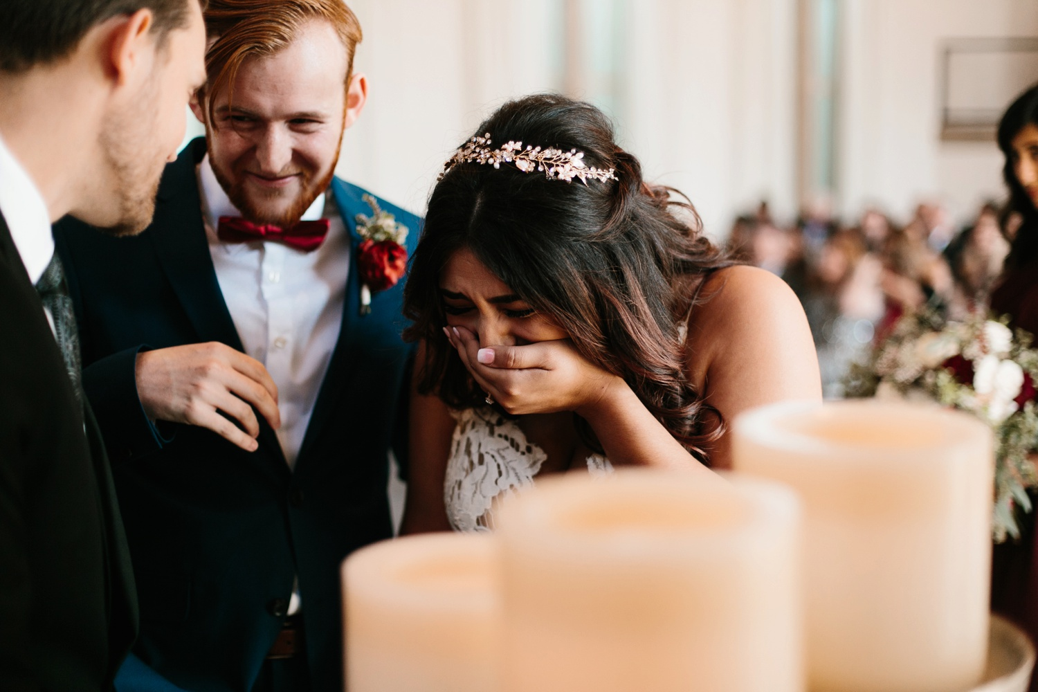 Grant + Lysette | a vibrant, deep burgundy and navy, and mixed metals wedding at Hidden Pines Chapel by North Texas Wedding Photographer Rachel Meagan Photography 099