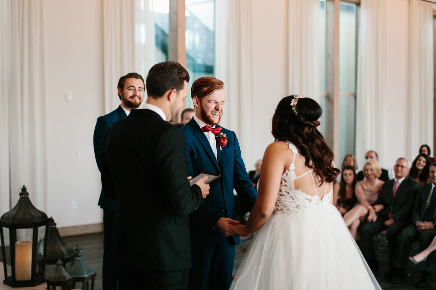 Grant + Lysette | a vibrant, deep burgundy and navy, and mixed metals wedding at Hidden Pines Chapel by North Texas Wedding Photographer Rachel Meagan Photography 103