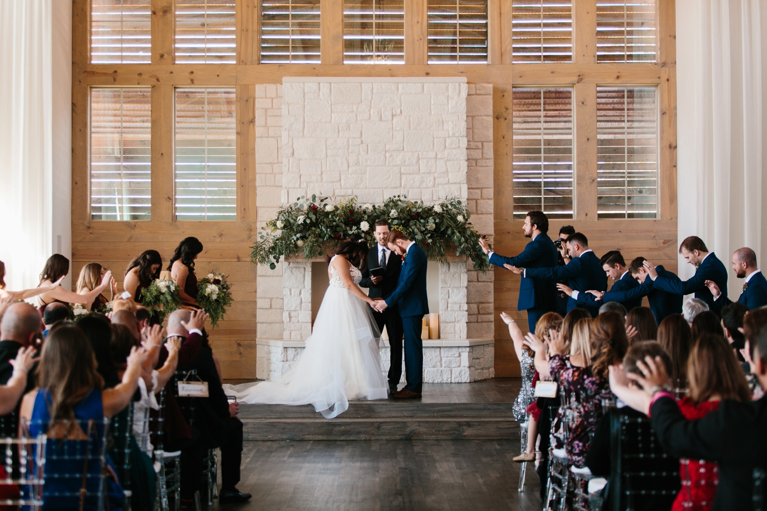 Grant + Lysette | a vibrant, deep burgundy and navy, and mixed metals wedding at Hidden Pines Chapel by North Texas Wedding Photographer Rachel Meagan Photography 104