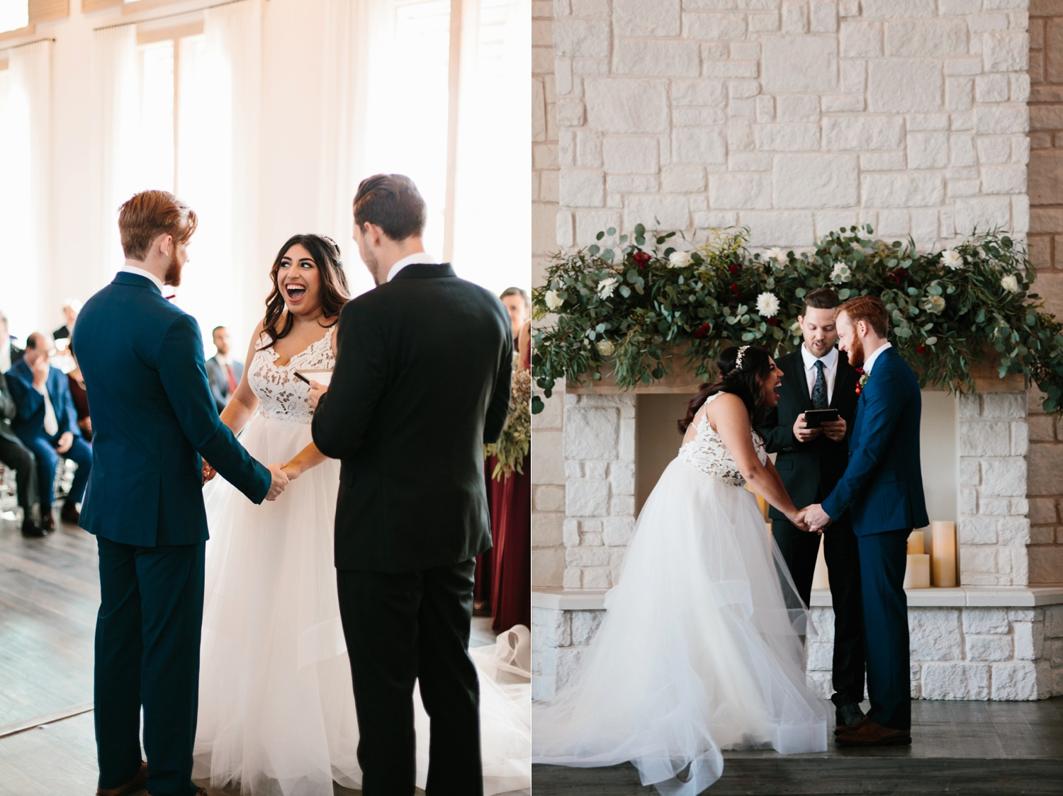 Grant + Lysette | a vibrant, deep burgundy and navy, and mixed metals wedding at Hidden Pines Chapel by North Texas Wedding Photographer Rachel Meagan Photography 106