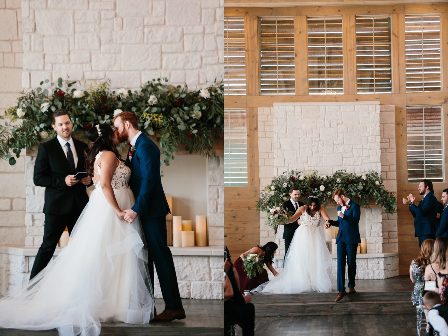Grant + Lysette | a vibrant, deep burgundy and navy, and mixed metals wedding at Hidden Pines Chapel by North Texas Wedding Photographer Rachel Meagan Photography 108