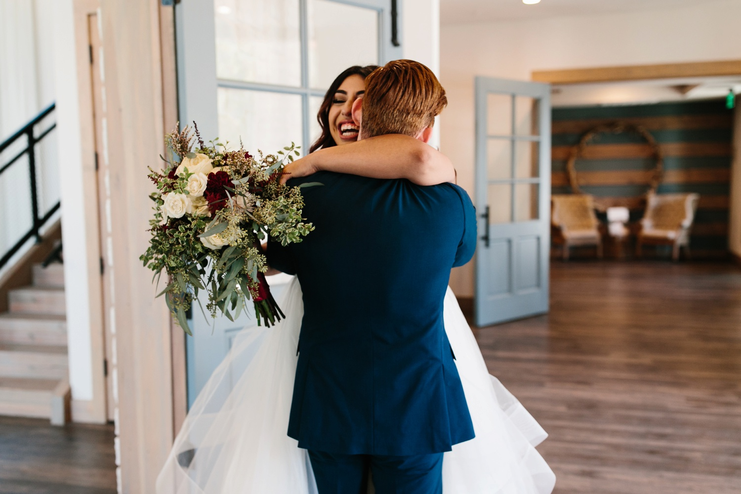 Grant + Lysette | a vibrant, deep burgundy and navy, and mixed metals wedding at Hidden Pines Chapel by North Texas Wedding Photographer Rachel Meagan Photography 112