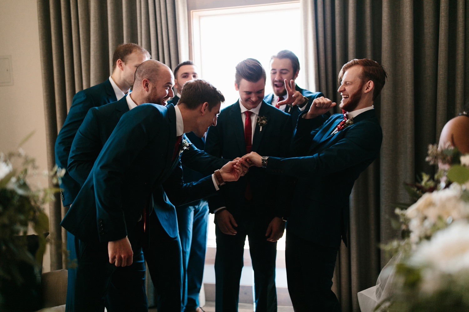 Grant + Lysette | a vibrant, deep burgundy and navy, and mixed metals wedding at Hidden Pines Chapel by North Texas Wedding Photographer Rachel Meagan Photography 116