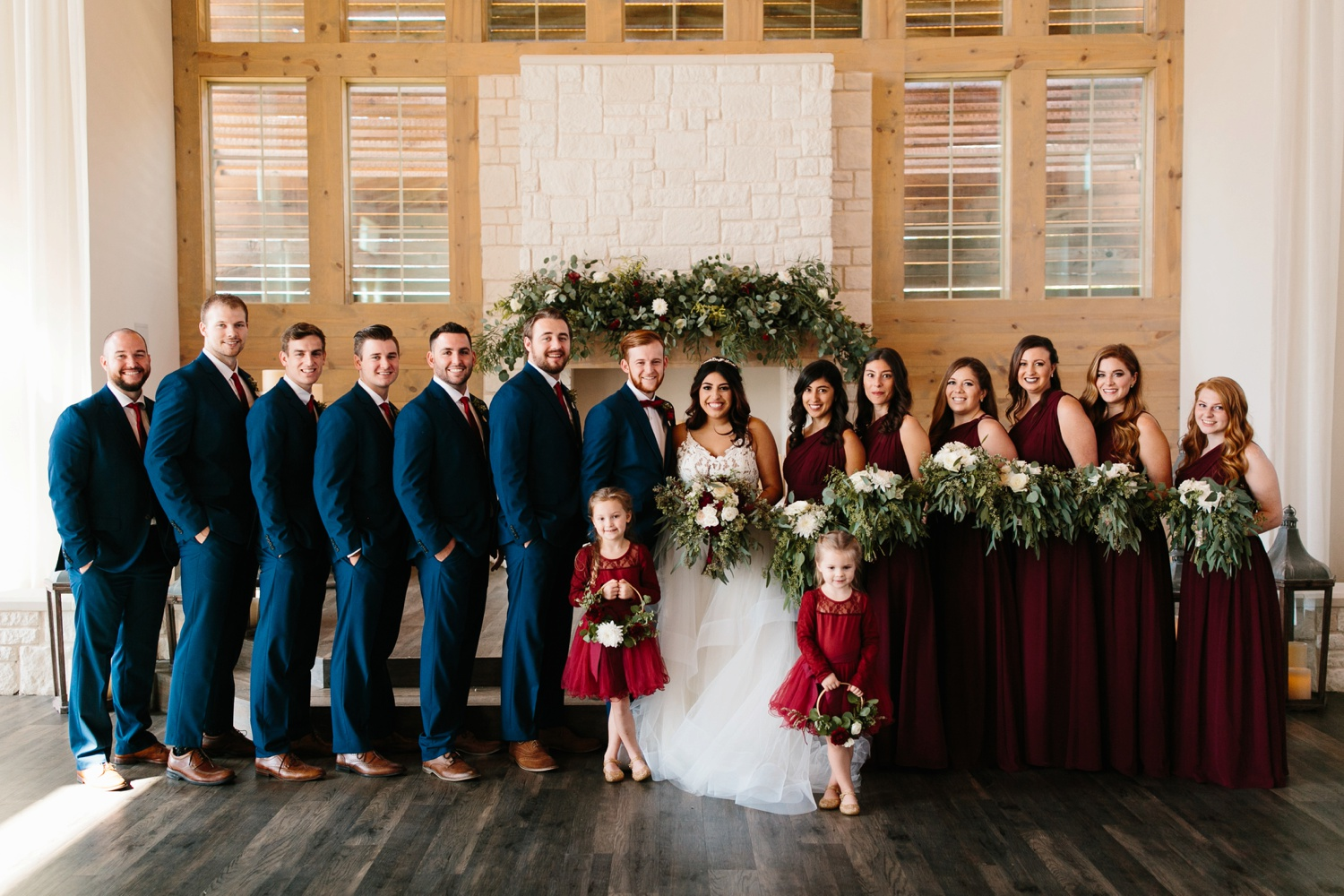 Grant + Lysette | a vibrant, deep burgundy and navy, and mixed metals wedding at Hidden Pines Chapel by North Texas Wedding Photographer Rachel Meagan Photography 117