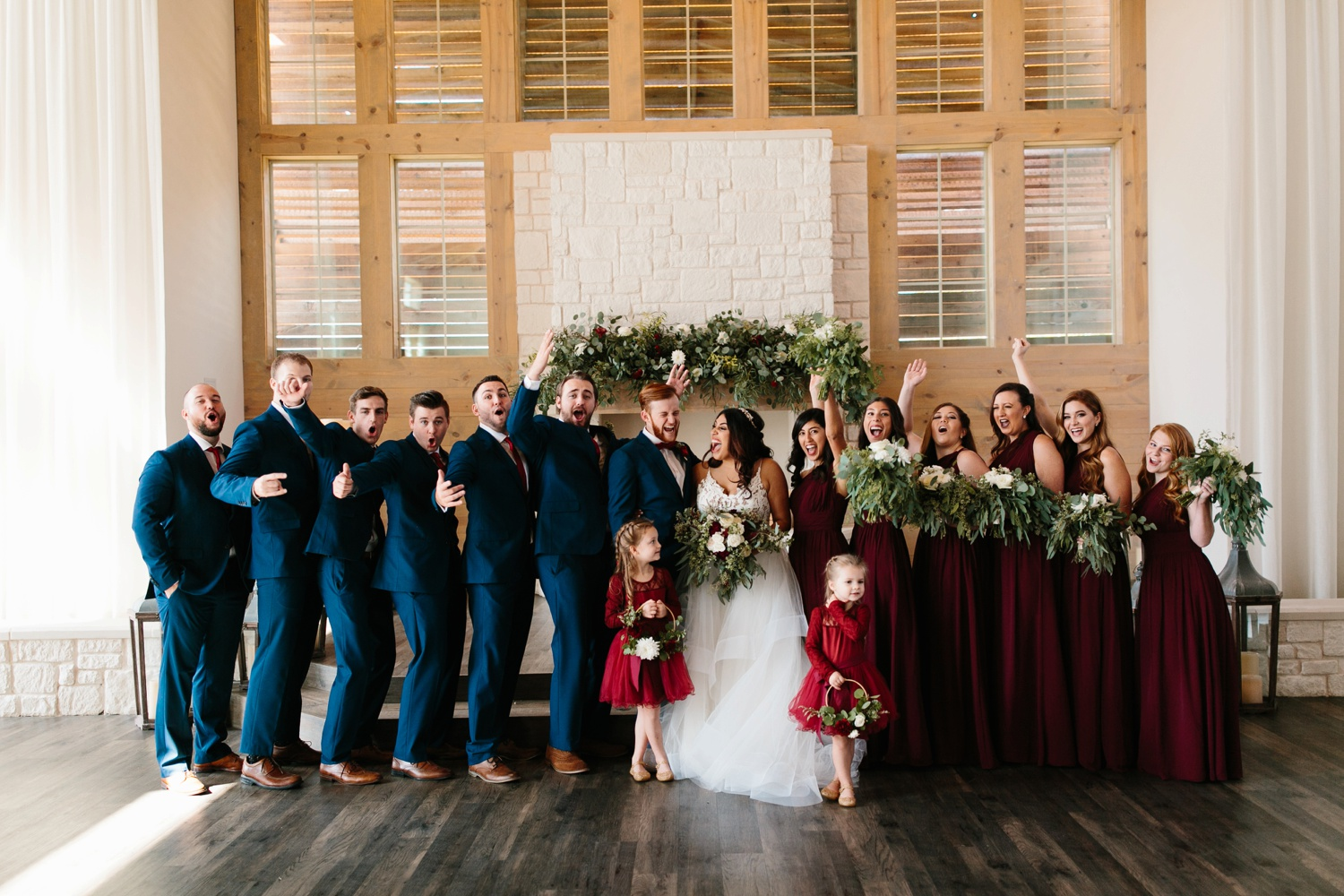 Grant + Lysette | a vibrant, deep burgundy and navy, and mixed metals wedding at Hidden Pines Chapel by North Texas Wedding Photographer Rachel Meagan Photography 118