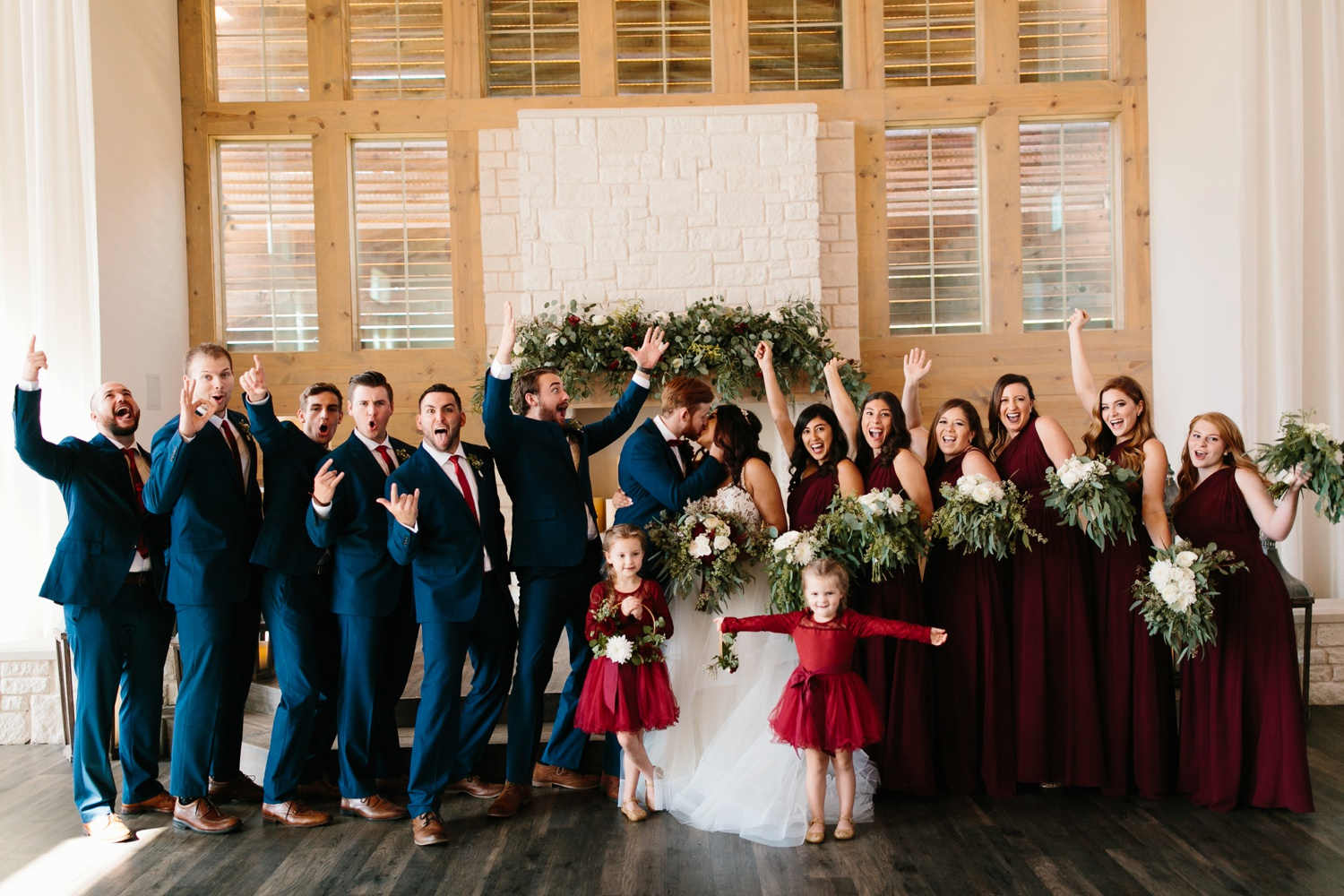 Grant + Lysette | a vibrant, deep burgundy and navy, and mixed metals wedding at Hidden Pines Chapel by North Texas Wedding Photographer Rachel Meagan Photography 119