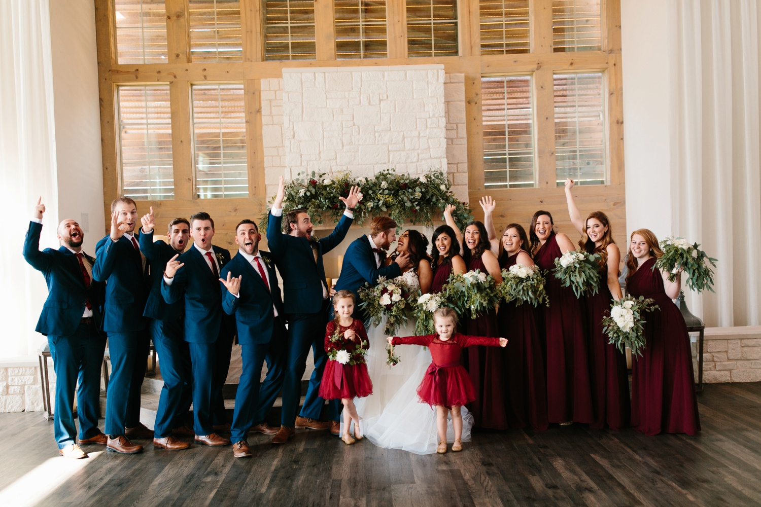 Grant + Lysette | a vibrant, deep burgundy and navy, and mixed metals wedding at Hidden Pines Chapel by North Texas Wedding Photographer Rachel Meagan Photography 120