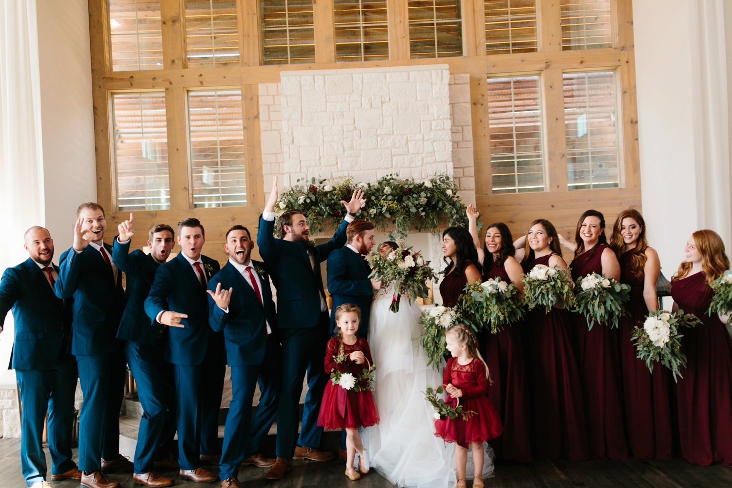 Grant + Lysette | a vibrant, deep burgundy and navy, and mixed metals wedding at Hidden Pines Chapel by North Texas Wedding Photographer Rachel Meagan Photography 121