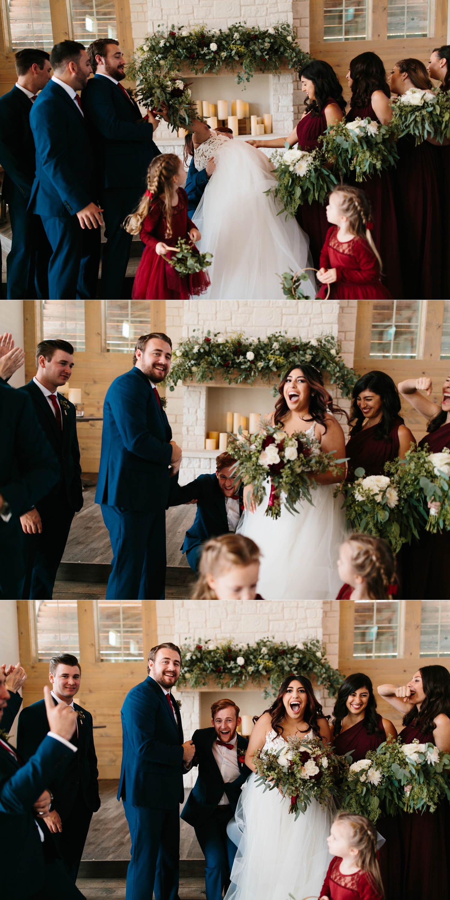 Grant + Lysette | a vibrant, deep burgundy and navy, and mixed metals wedding at Hidden Pines Chapel by North Texas Wedding Photographer Rachel Meagan Photography 122