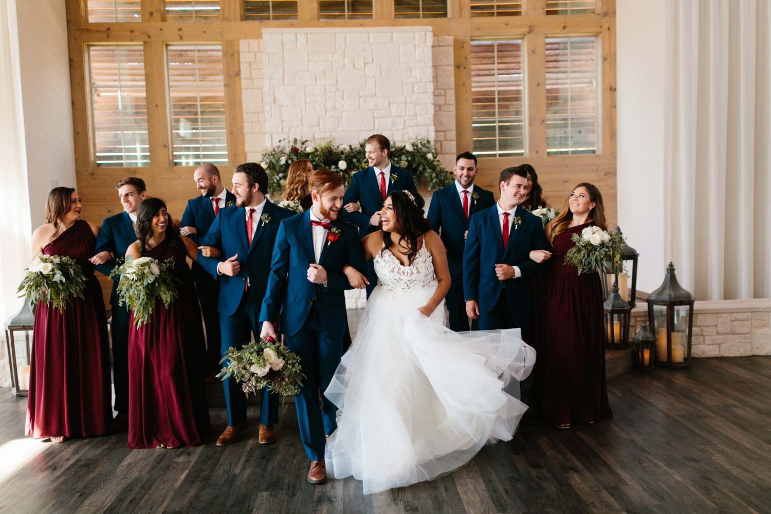 Grant + Lysette | a vibrant, deep burgundy and navy, and mixed metals wedding at Hidden Pines Chapel by North Texas Wedding Photographer Rachel Meagan Photography 123