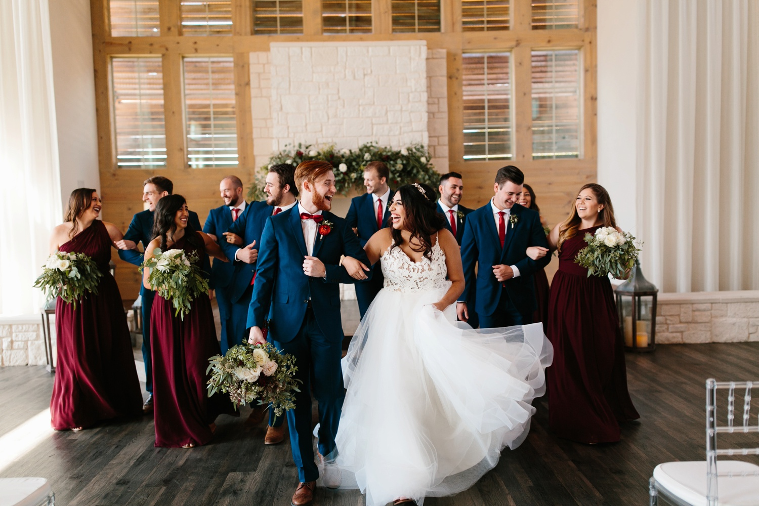 Grant + Lysette | a vibrant, deep burgundy and navy, and mixed metals wedding at Hidden Pines Chapel by North Texas Wedding Photographer Rachel Meagan Photography 124