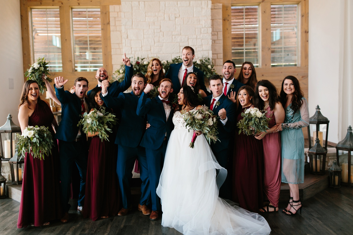 Grant + Lysette | a vibrant, deep burgundy and navy, and mixed metals wedding at Hidden Pines Chapel by North Texas Wedding Photographer Rachel Meagan Photography 125