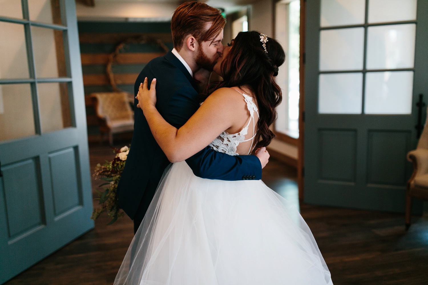 Grant + Lysette | a vibrant, deep burgundy and navy, and mixed metals wedding at Hidden Pines Chapel by North Texas Wedding Photographer Rachel Meagan Photography 129