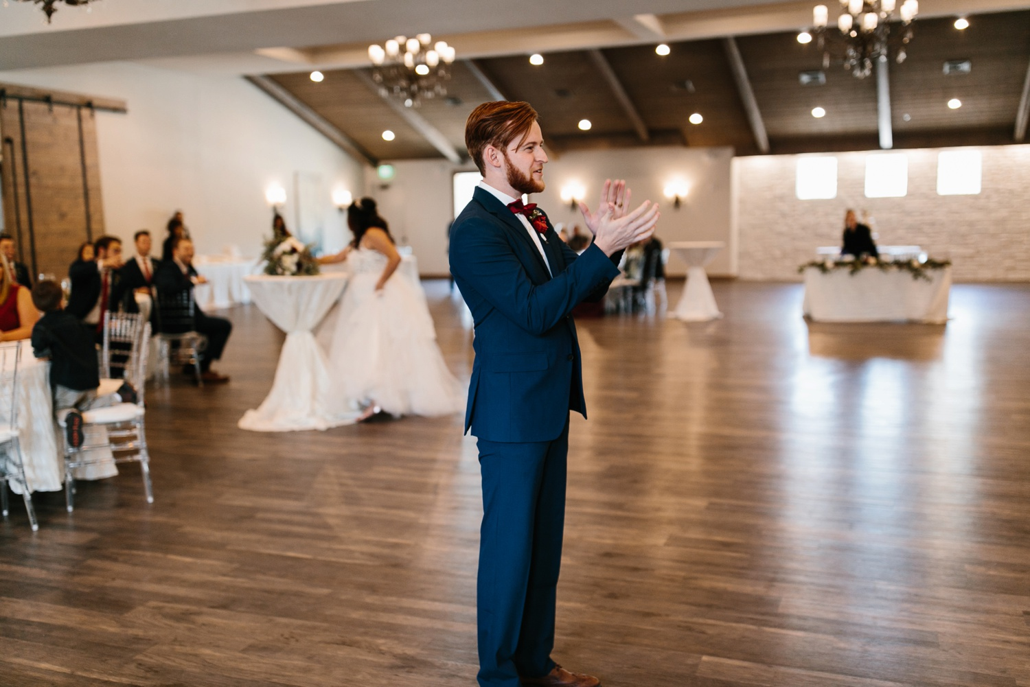 Grant + Lysette | a vibrant, deep burgundy and navy, and mixed metals wedding at Hidden Pines Chapel by North Texas Wedding Photographer Rachel Meagan Photography 140
