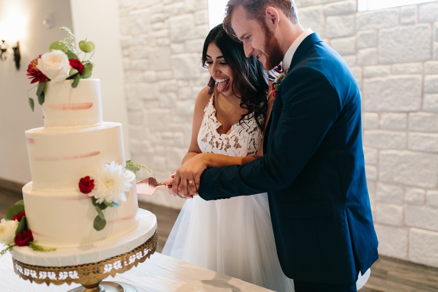 Grant + Lysette | a vibrant, deep burgundy and navy, and mixed metals wedding at Hidden Pines Chapel by North Texas Wedding Photographer Rachel Meagan Photography 145