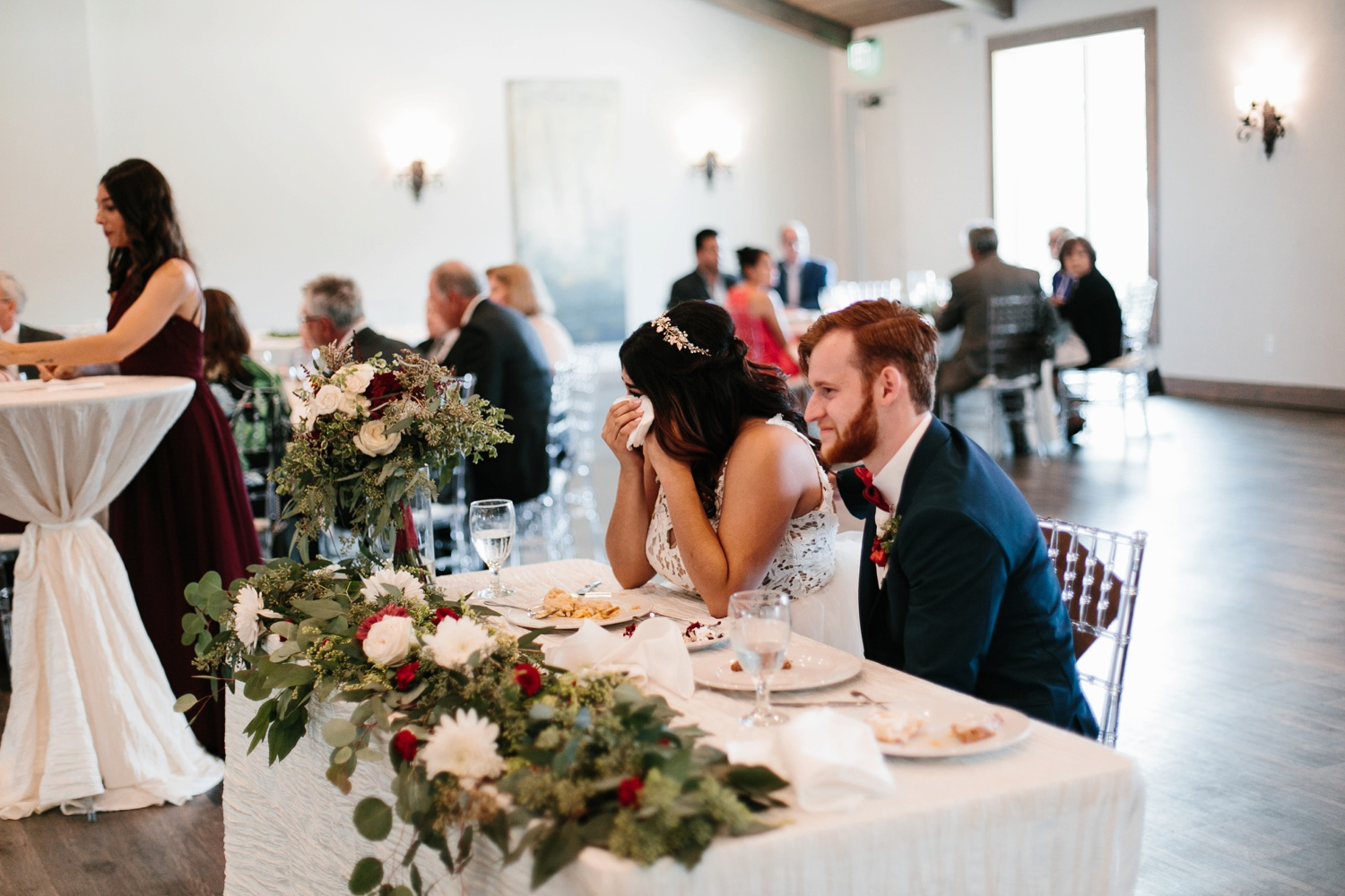 Grant + Lysette | a vibrant, deep burgundy and navy, and mixed metals wedding at Hidden Pines Chapel by North Texas Wedding Photographer Rachel Meagan Photography 152