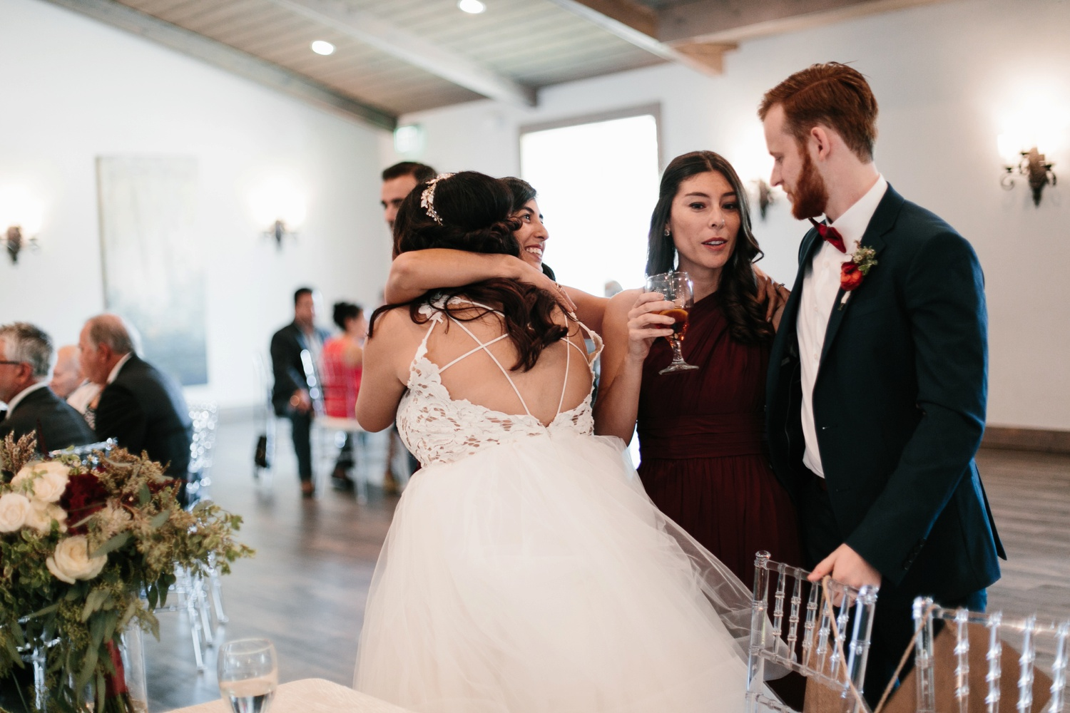 Grant + Lysette | a vibrant, deep burgundy and navy, and mixed metals wedding at Hidden Pines Chapel by North Texas Wedding Photographer Rachel Meagan Photography 155