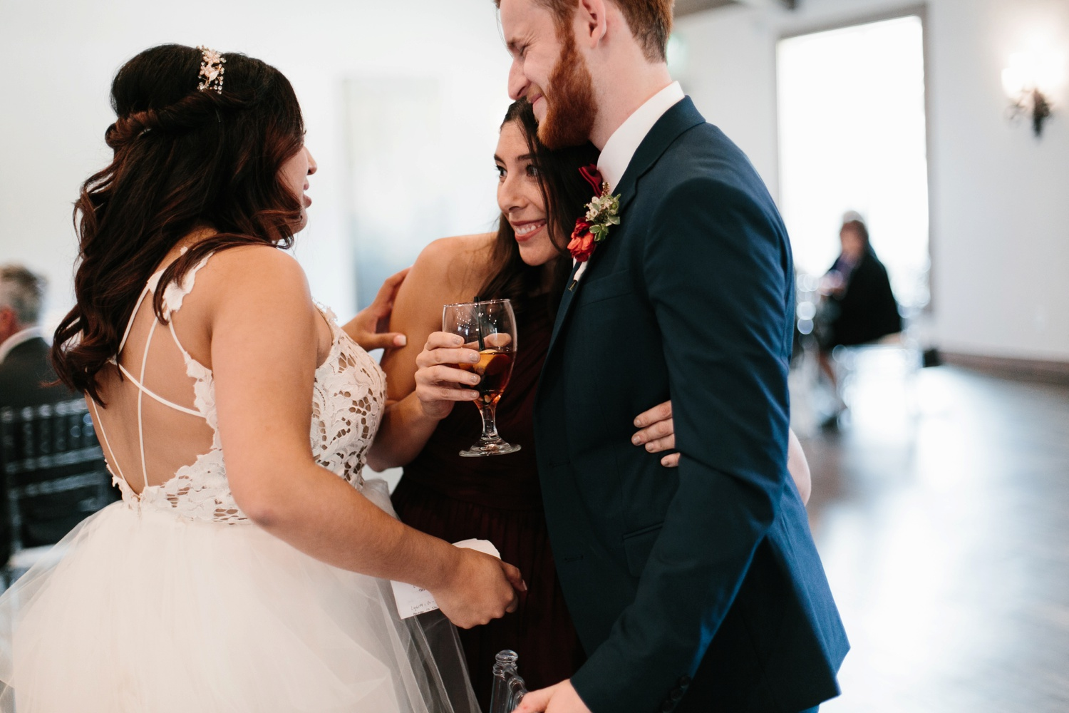 Grant + Lysette | a vibrant, deep burgundy and navy, and mixed metals wedding at Hidden Pines Chapel by North Texas Wedding Photographer Rachel Meagan Photography 156