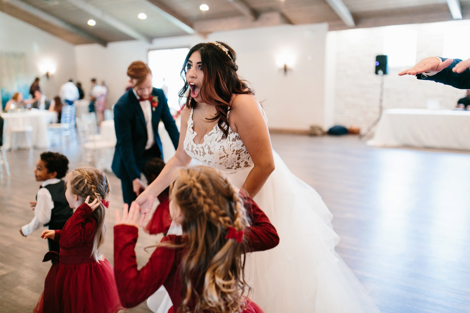 Grant + Lysette | a vibrant, deep burgundy and navy, and mixed metals wedding at Hidden Pines Chapel by North Texas Wedding Photographer Rachel Meagan Photography 160
