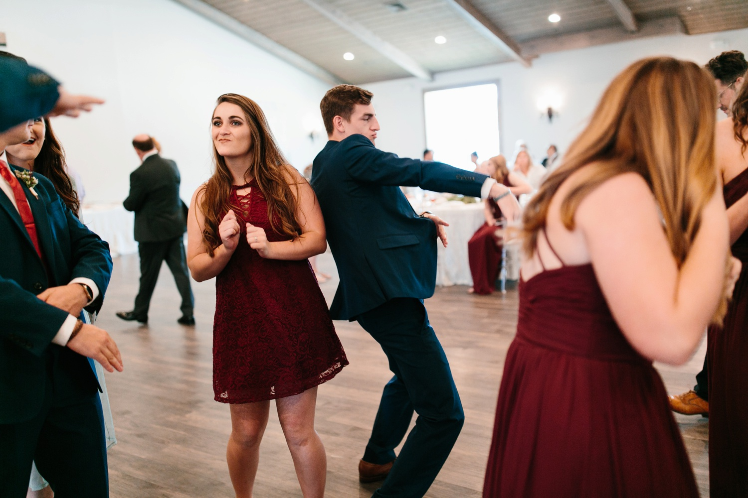 Grant + Lysette | a vibrant, deep burgundy and navy, and mixed metals wedding at Hidden Pines Chapel by North Texas Wedding Photographer Rachel Meagan Photography 162