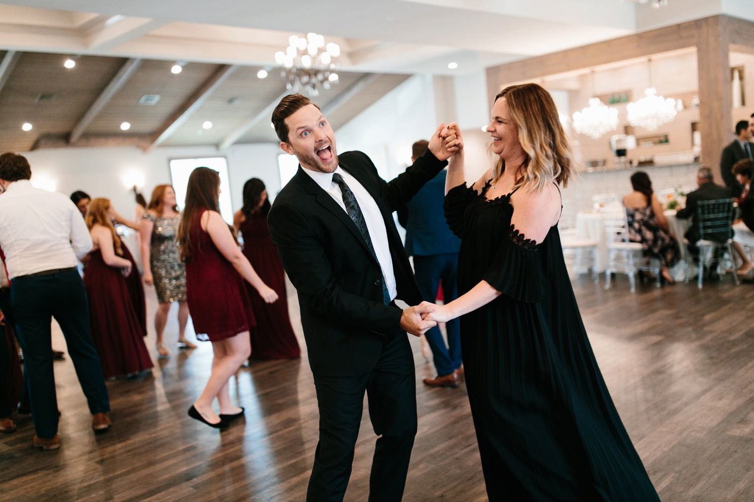 Grant + Lysette | a vibrant, deep burgundy and navy, and mixed metals wedding at Hidden Pines Chapel by North Texas Wedding Photographer Rachel Meagan Photography 164