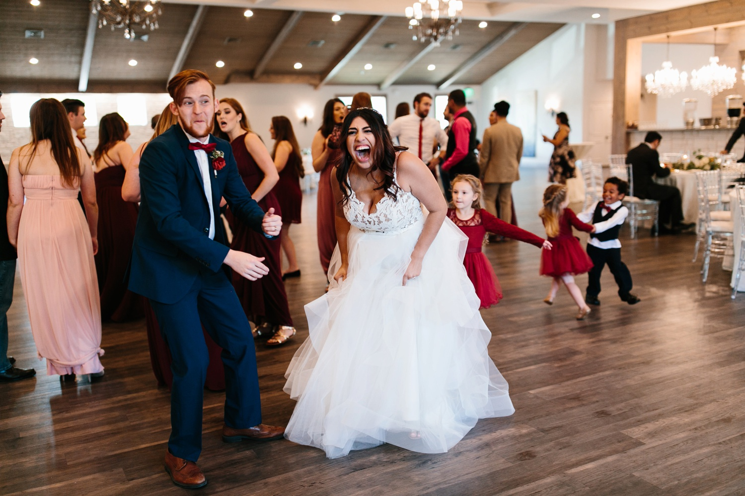 Grant + Lysette | a vibrant, deep burgundy and navy, and mixed metals wedding at Hidden Pines Chapel by North Texas Wedding Photographer Rachel Meagan Photography 170