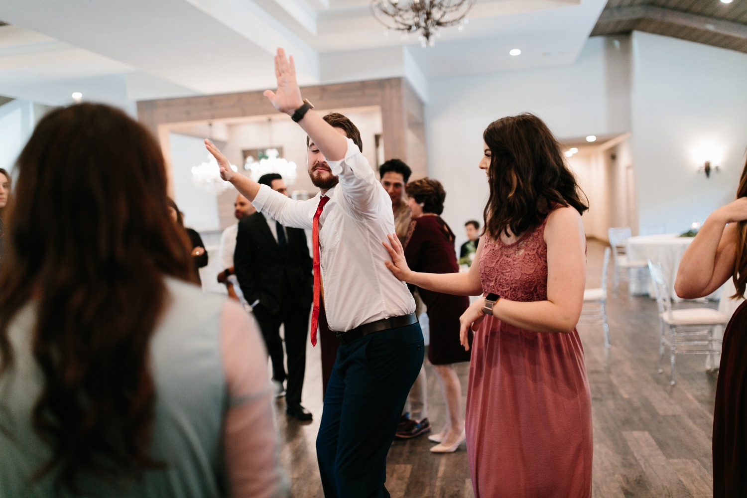 Grant + Lysette | a vibrant, deep burgundy and navy, and mixed metals wedding at Hidden Pines Chapel by North Texas Wedding Photographer Rachel Meagan Photography 172