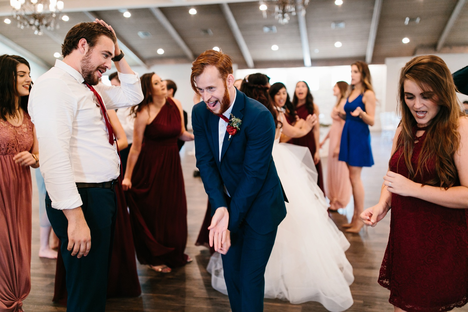 Grant + Lysette | a vibrant, deep burgundy and navy, and mixed metals wedding at Hidden Pines Chapel by North Texas Wedding Photographer Rachel Meagan Photography 182
