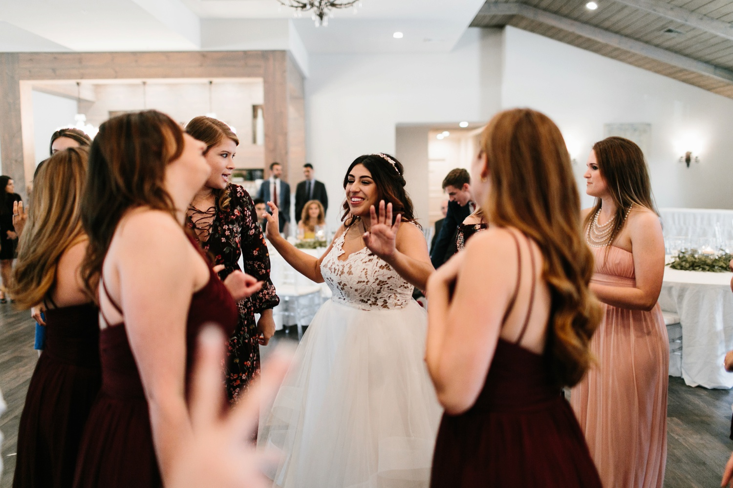 Grant + Lysette | a vibrant, deep burgundy and navy, and mixed metals wedding at Hidden Pines Chapel by North Texas Wedding Photographer Rachel Meagan Photography 183