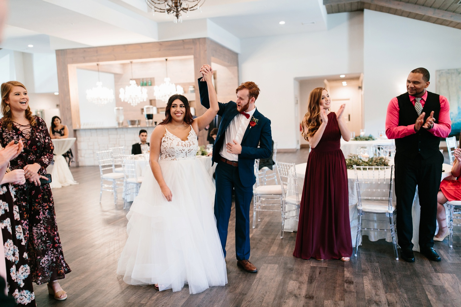 Grant + Lysette | a vibrant, deep burgundy and navy, and mixed metals wedding at Hidden Pines Chapel by North Texas Wedding Photographer Rachel Meagan Photography 185