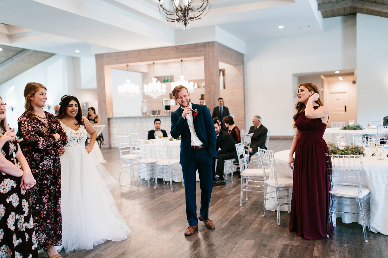 Grant + Lysette | a vibrant, deep burgundy and navy, and mixed metals wedding at Hidden Pines Chapel by North Texas Wedding Photographer Rachel Meagan Photography 186