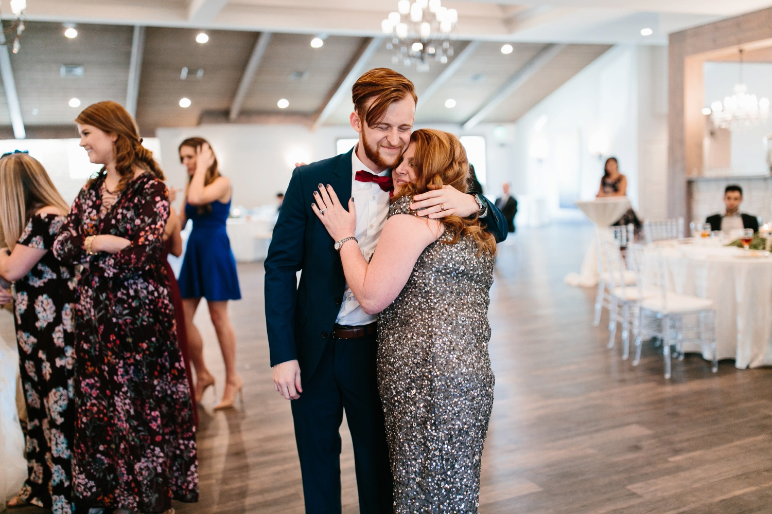 Grant + Lysette | a vibrant, deep burgundy and navy, and mixed metals wedding at Hidden Pines Chapel by North Texas Wedding Photographer Rachel Meagan Photography 188