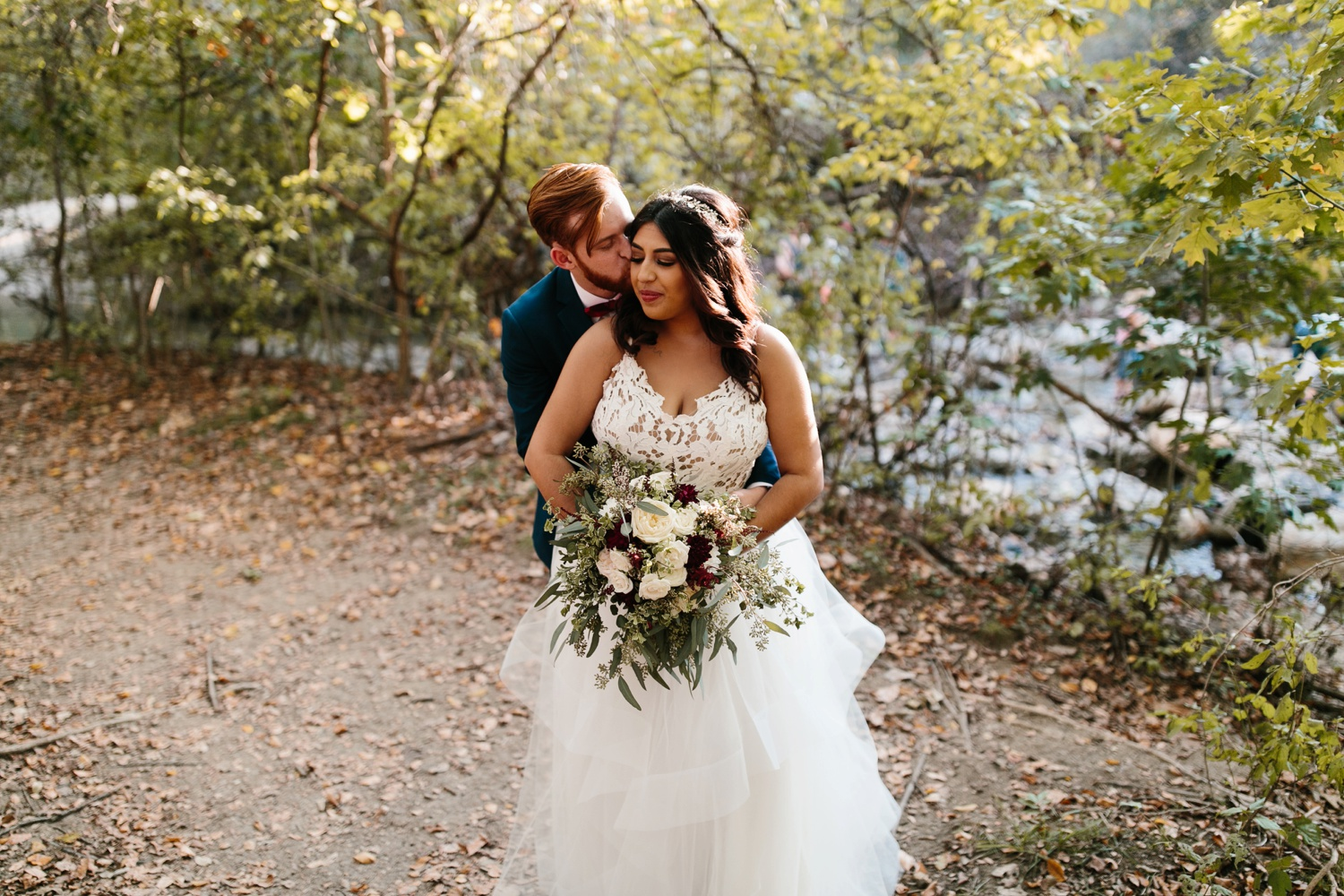Grant + Lysette | a vibrant, deep burgundy and navy, and mixed metals wedding at Hidden Pines Chapel by North Texas Wedding Photographer Rachel Meagan Photography 192