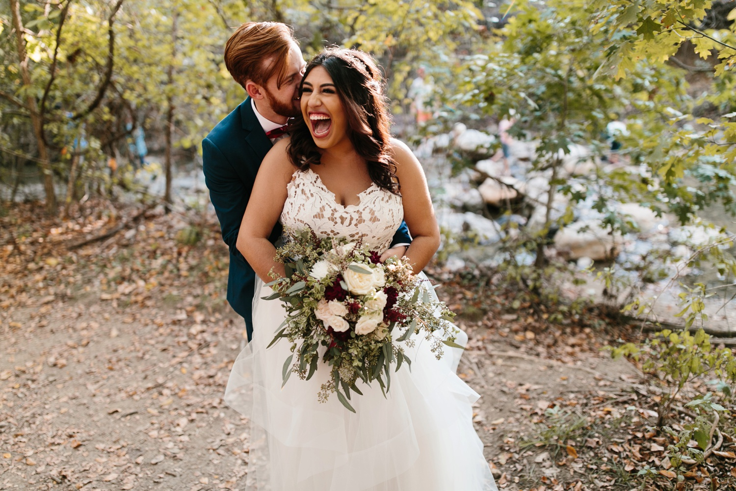 Grant + Lysette | a vibrant, deep burgundy and navy, and mixed metals wedding at Hidden Pines Chapel by North Texas Wedding Photographer Rachel Meagan Photography 193
