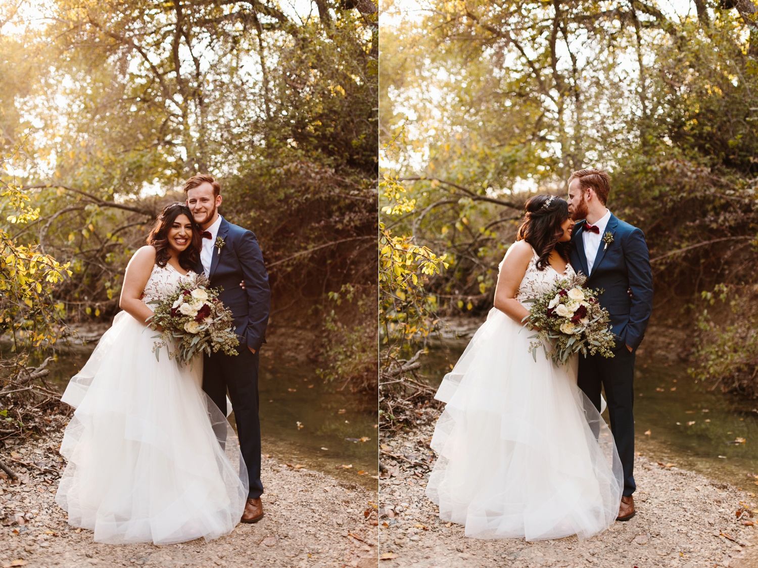 Grant + Lysette | a vibrant, deep burgundy and navy, and mixed metals wedding at Hidden Pines Chapel by North Texas Wedding Photographer Rachel Meagan Photography 208