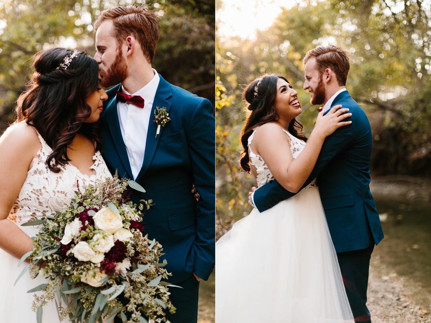 Grant + Lysette | a vibrant, deep burgundy and navy, and mixed metals wedding at Hidden Pines Chapel by North Texas Wedding Photographer Rachel Meagan Photography 209