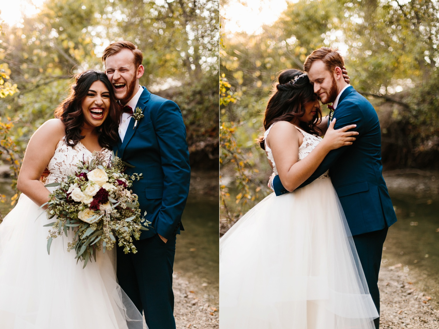 Grant + Lysette | a vibrant, deep burgundy and navy, and mixed metals wedding at Hidden Pines Chapel by North Texas Wedding Photographer Rachel Meagan Photography 210